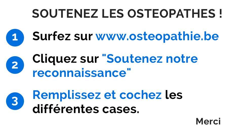 Reconnaissance Osteopathie 3 étapes